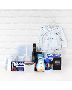 Summertime Baby Gift Set with Wine, baby gift baskets, baby gifts, wine gift baskets