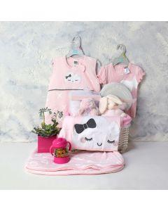 YOUR BABY GIRL GIFT BASKET, baby girl gift hamper, newborns, new parents