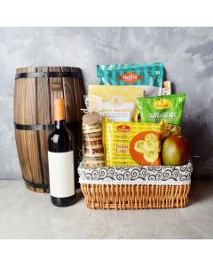 FLAVORS OF DIWALI GIFT BASKET WITH WINE