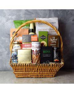 Markham Rustic Wine Gift Basket, gift baskets, wine gift baskets, gourmet gift baskets, snack gift baskets
