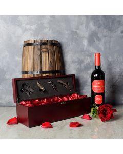 Valentine's Wine Box, wine gift baskets, Valentine's Day gifts, gift baskets, romance