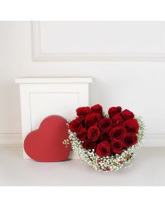 Valentine's Day Rose Bouquet, floral gift baskets, Valentine's Day gifts, gift baskets, romance