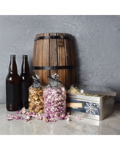 Halloween Popcorn & Beer Basket