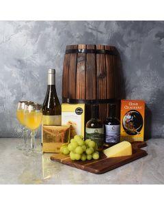 Decadent Wine & Cheese Basket