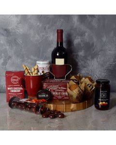 Muffin, Chocolate & Wine Delight Gift Set
