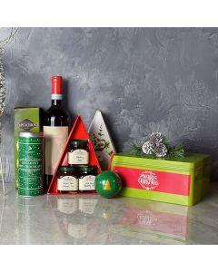 Christmas Wine Jam Basket