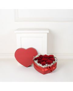 Box of Red Roses, floral gift baskets, Valentine's Day gifts, gift baskets, romance