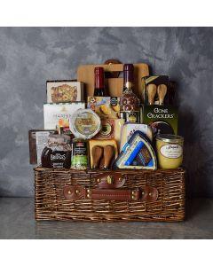 Deluxe Wine & Cheese Gift Basket