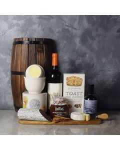 Cured Your Craving, Cheese & Wine Basket