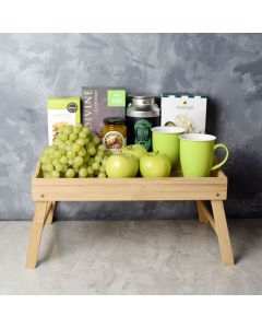 The Green Get Well Gift Tray, gourmet gift baskets, gourmet gifts, gifts