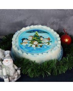 Snowman Celebration Christmas Cake