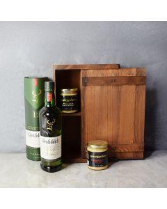 Sauce & Spirits Gift Box, liquor gift baskets, gourmet gifts, gifts