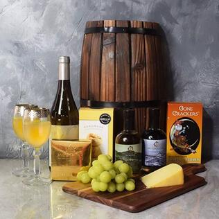 Decadent Wine & Cheese Basket Manchester