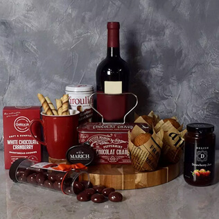 Muffin,Chocolate & Wine Delight Gift Set Baltimore
