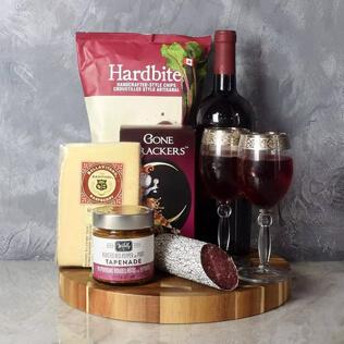 Savoury Treats Wine Basket Baltimore