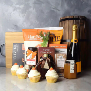 Thanksgiving Bubbly & Snacks Basket New Jersey
