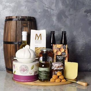 Little Italy Deluxe Craft Beer Basket New Jersey